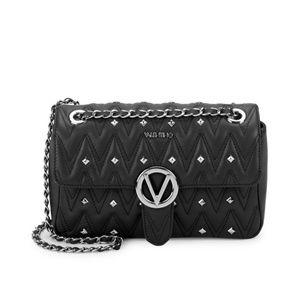 New Valentino Black Leather Crossbody Handbag